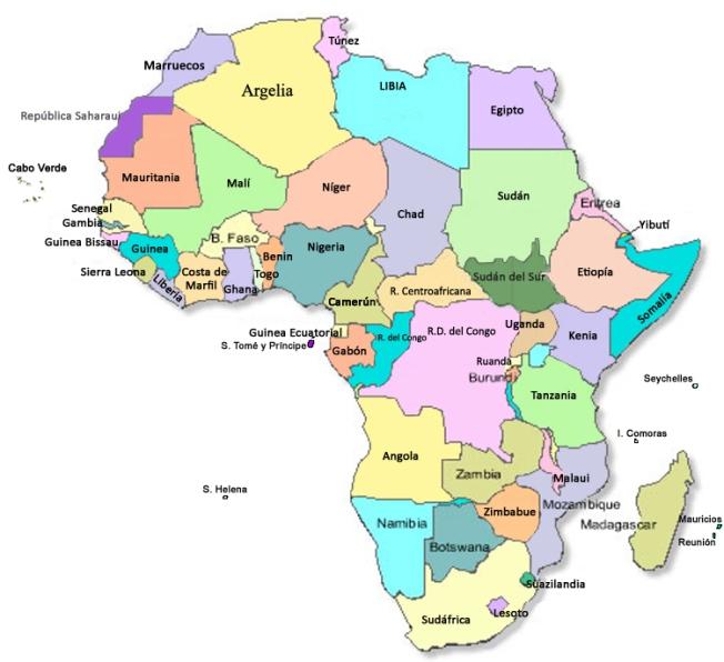 mapa áfrica países África y su diversidad cultural: Países | misosoafrica mapa áfrica países